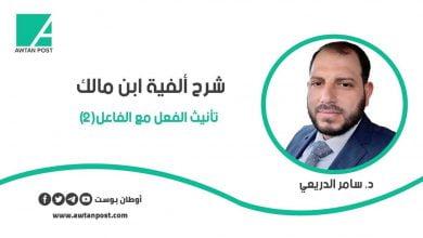 Photo of شرح ألفية ابن مالك .. تأنيث الفعل مع الفاعل (2) د. سامر الدريعي
