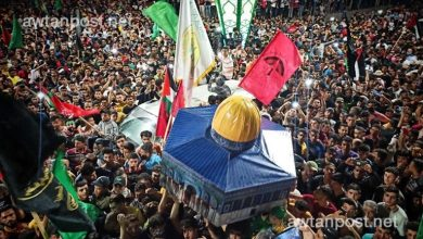 "Photo of احتفالات فلسطينية بـ""الانتصار على إسرائيل"" بعد بدء سريان وقف إطلاق النـ.ـار"